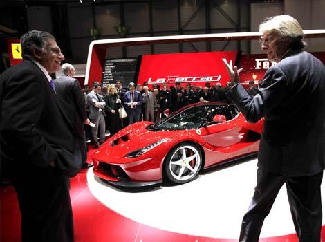 Ferrari CEO Luca Cordero di Montezemolo with Ratan Tata.JPG